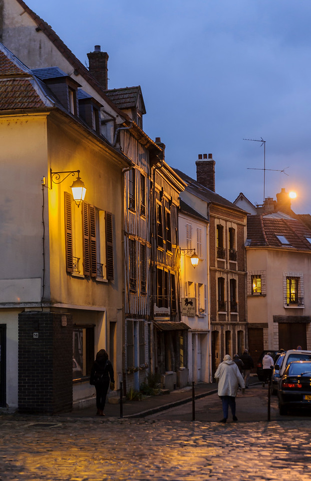 Rue Saint-Sauveur, Old section of town by Notre-Dame of Rouen Cathedral, a 12th century Gothic church