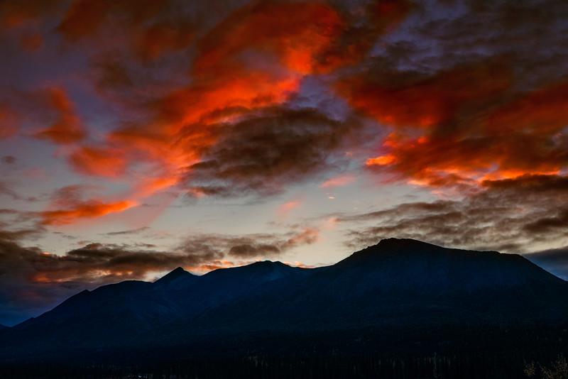 Sunset near Cantwell, Alaska