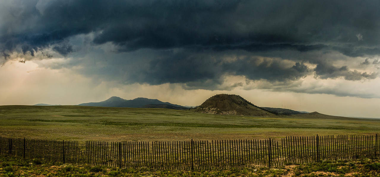 Panorama by Highway 24 near Hartsel, Colorado
